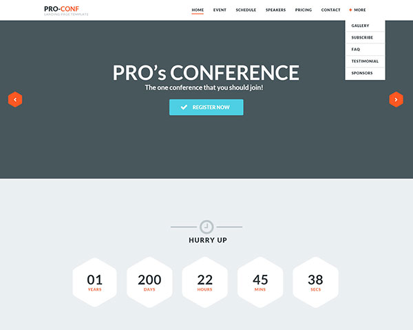 Proconf Event Landing Page