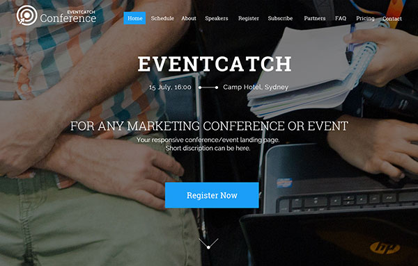 Eventcatch | Any Event & Conference Landing Page