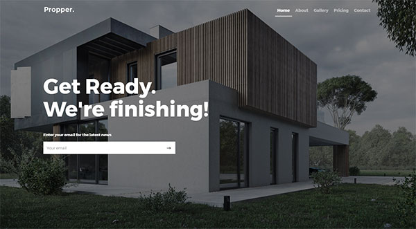 Propper - Responsive Architecture Template