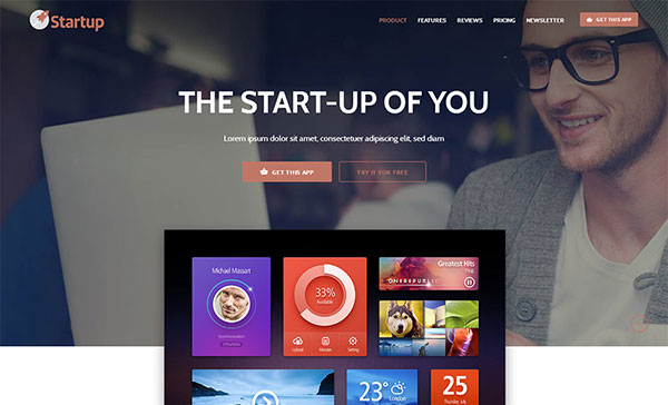 Startuply — Multi-Purpose Startup Landing Pages