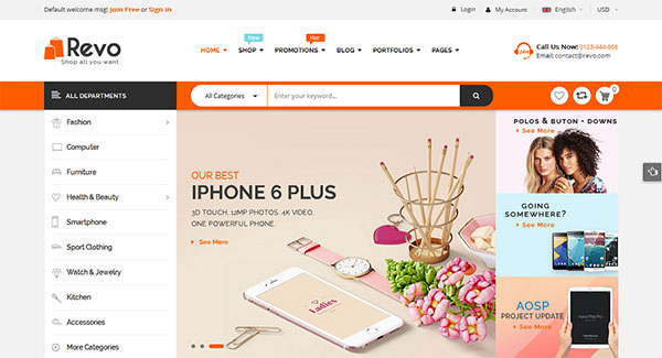 Revo - Multi-Purpose Responsive WooCommerce Theme with Mobile-Specific Layouts