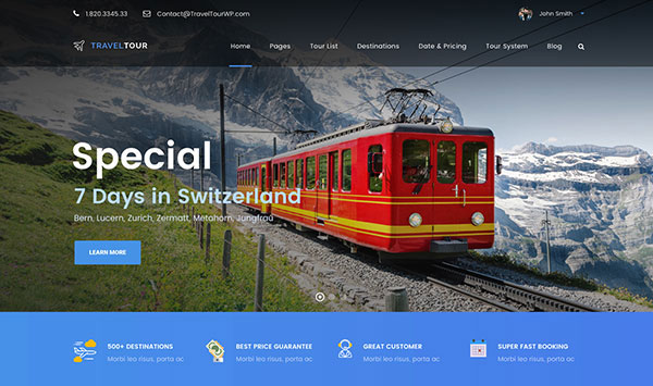 Travel Tour - Travel & Tour Management System WordPress Theme