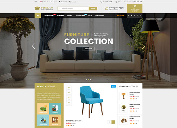 Furnicom - Responsive Furniture WooCommerce WordPress Theme