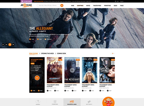 AmyMovie - Movie and Cinema WordPress Theme
