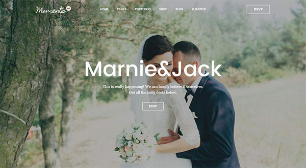 Moments - A Multipurpose Wedding, Celebration & Event Theme