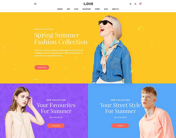 iLove - Creative Fashion WooCommerce WordPress Theme