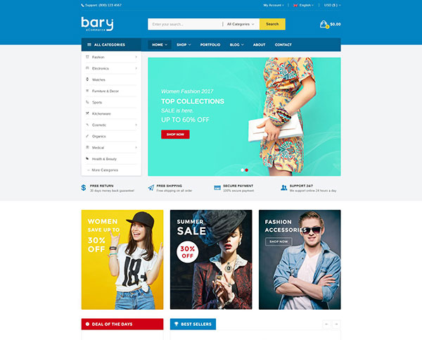 Bary - Multipurpose Responsive Fashion WooCommerce WordPress Theme