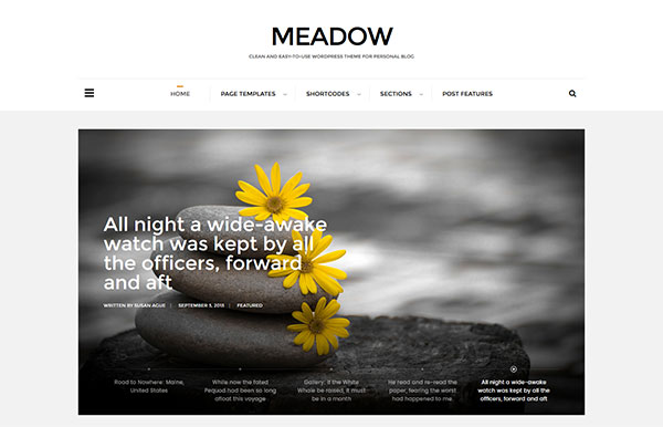 Meadow - Beautiful & Modern Personal Blog Theme