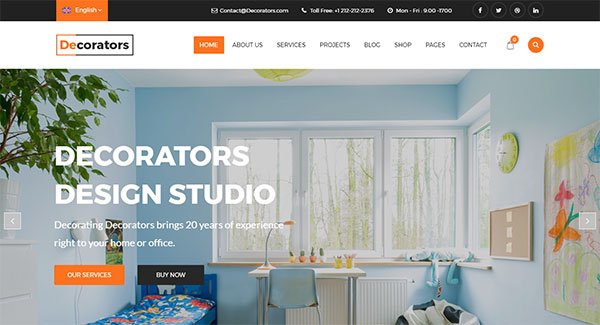 Decorators - WordPress Theme for Architecture & Modern Interior Design Studio