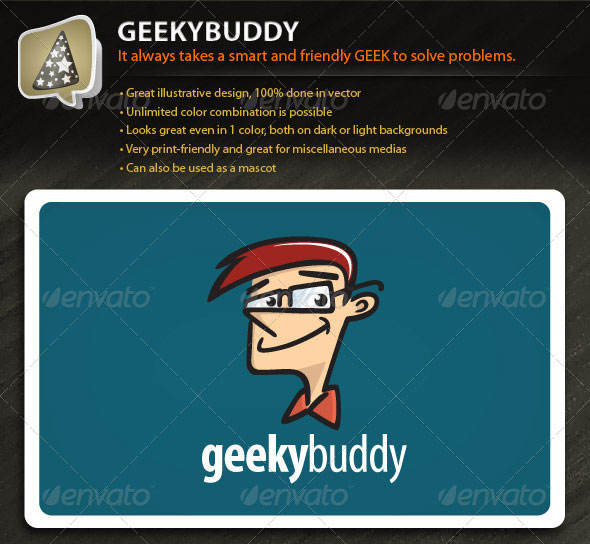 GeekyBuddy - Illustrative Mark for Your Tech Biz