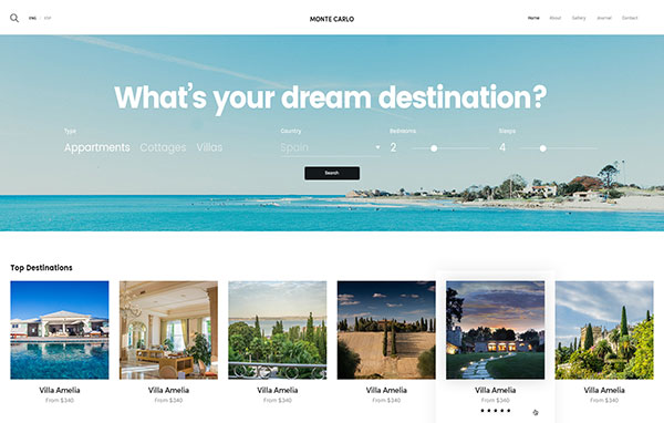 Monte Carlo - Bold And Sharp Booking Hotel PSD Theme