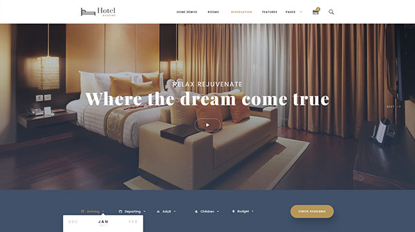 Hotel Booking - Travel Hotel Booking PSD Template