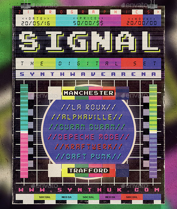 Retro Electronic Poster/ Flyer Template