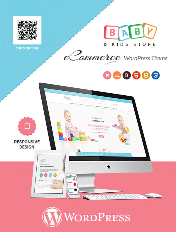 Baby & Kids Store eCommerce Woocommerce WordPress Theme