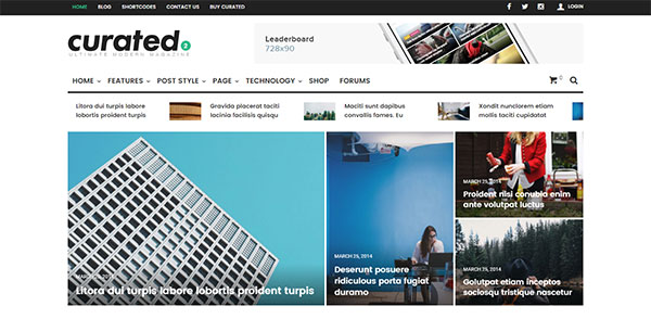 Curated | Ultimate Modern Magazine Theme