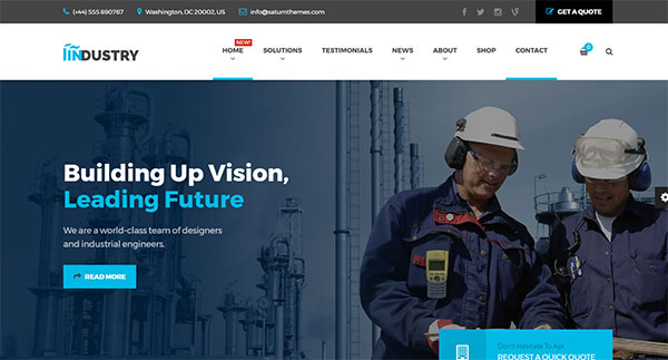 Industry - Business, Factory, Construction, Transport & Finance WordPress Theme