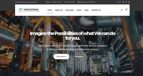 Industrial - Business, Industry WordPress Theme