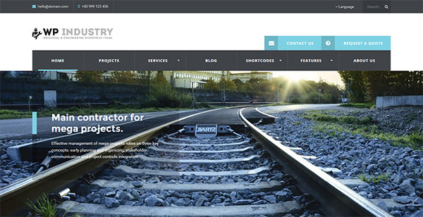 WP Industry - Industrial & Engineering WP theme