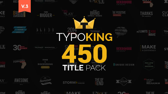 TypoKing | Title Animation - Kinetic Typography Text