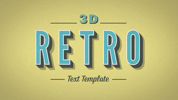 3D Retro Kinetic Typography