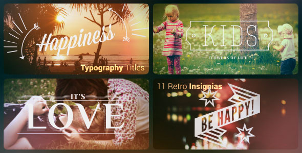 Typography titles | 11 Retro Insignias