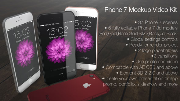 Phone 7 Mockup Video Kit