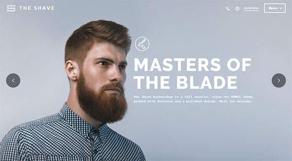 The Shave | BarberShop - Clean Cut WordPress Theme