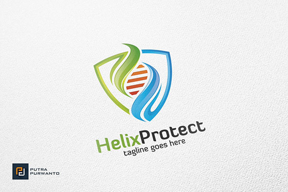 Helix Protect / DNA - Logo Template