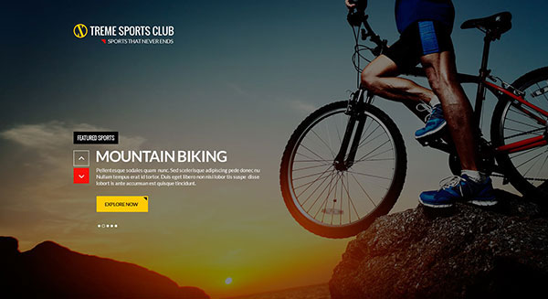 Xtreme Sports club - PSD Template