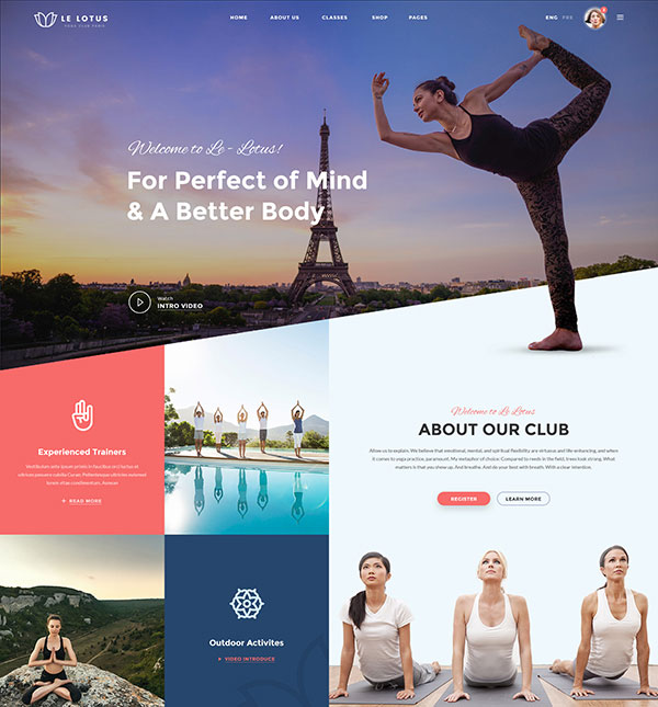 Le Lotus - Yoga Center PSD Template