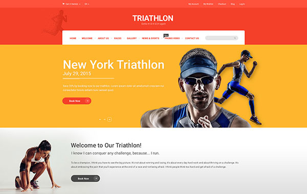 Triathlon - Creative PSD Template