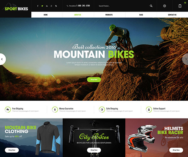 Sportbike - Multipurpose eCommerce PSD Template