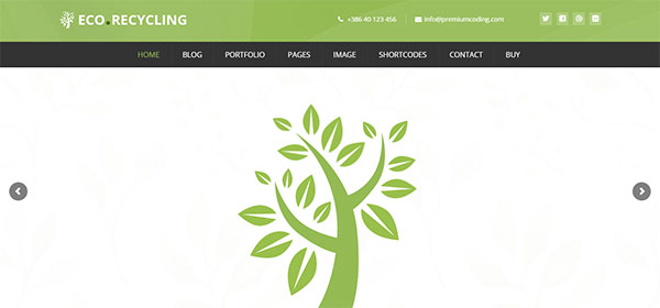 Eco Recycling - A Multipurpose Nature & Ecology WordPress Theme