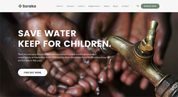 Soraka - Charity/Non-profit Organization WordPress Theme