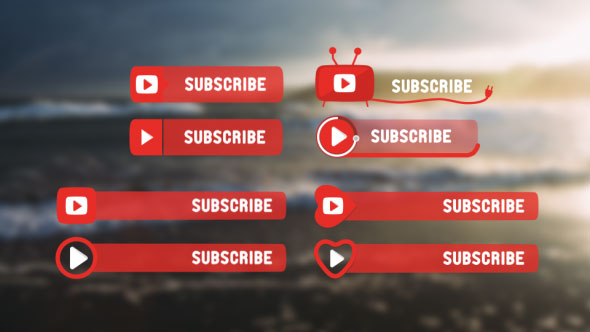 YouTube Subscribe Buttons. Pack