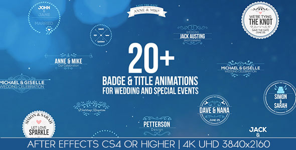 Badges / Title Animations For Wedding And Special Events