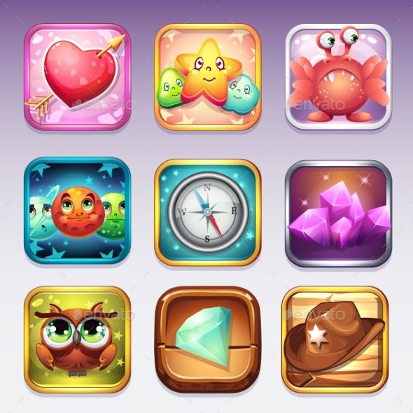 Set Icons For App Store And Google Play To