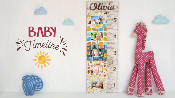 Kids Photo Slideshow with Growth Chart Ruler