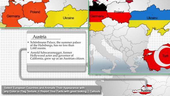 20 stunning animated map after effects templates ae idesignow europe map kit gumiabroncs Choice Image