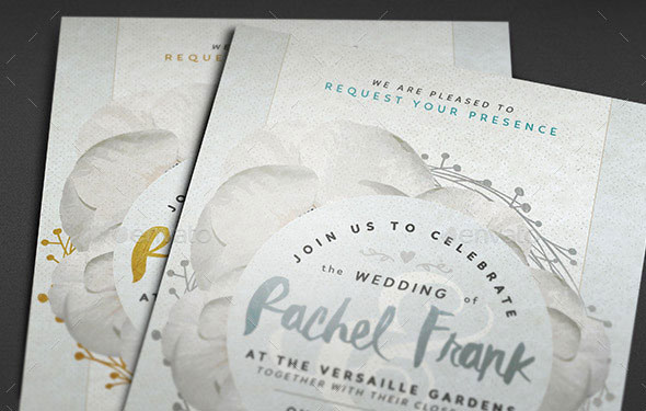 Golden and Silver Wedding Invitations