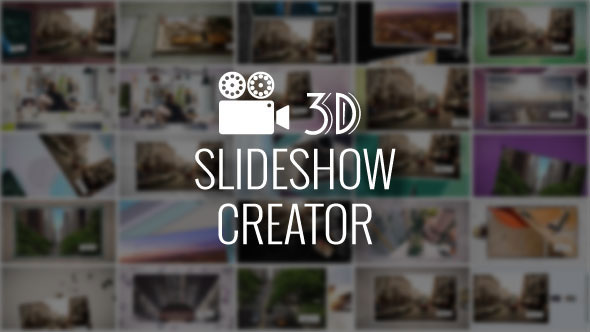 3D Slideshow Creator | After Effects Script