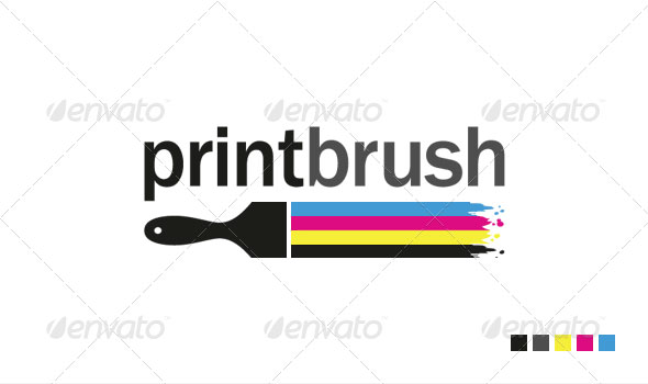Print Brush - Logo Template