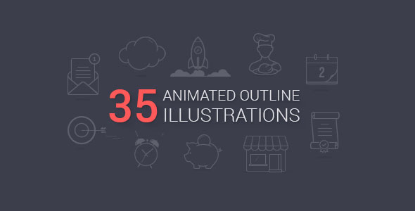 Animated Outline Illustrations