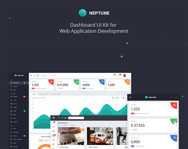 Neptune - Multipurpose Admin Dashboard Template
