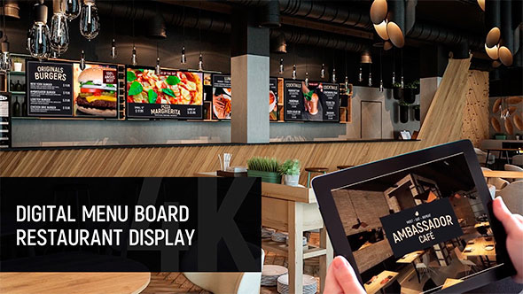 Digital Menu Board - Restaurant Display