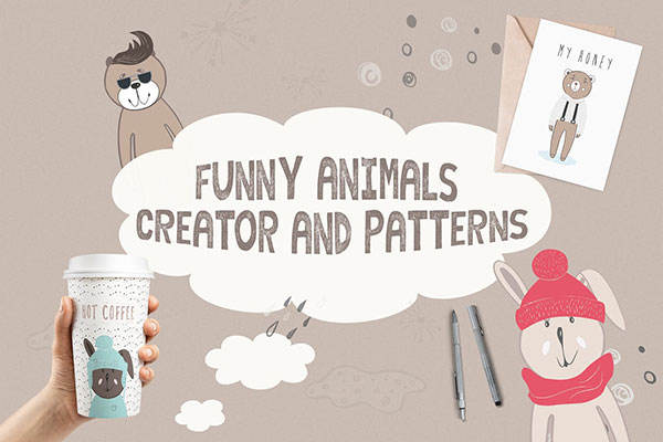 Funny Animals Creator & Patterns