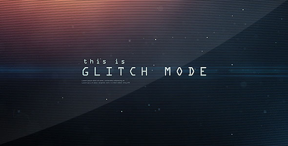 Glitch Mode - Text Sequence and Logo Intro