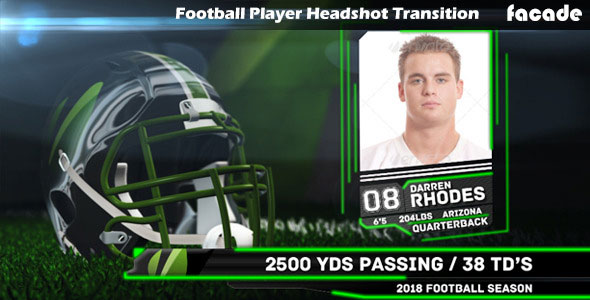 Football Player Headshot Transition