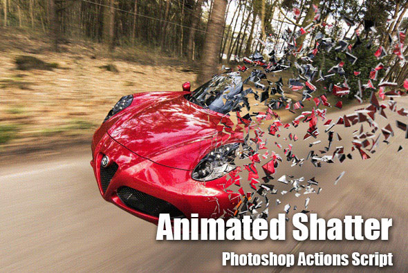 Animated Shatter Photoshop Add-on
