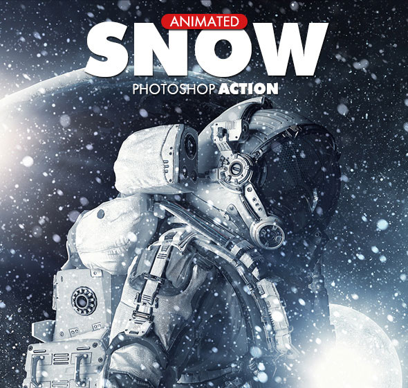 Snow Photoshop Action - Animated